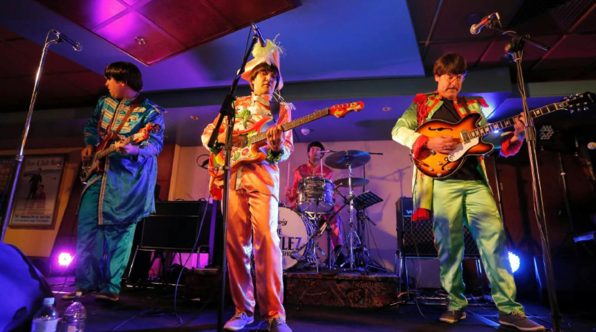 Our Sgt. Peppers costumes on display at the Albury Beatles Festival