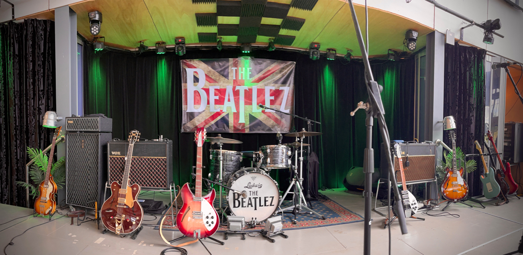 The Beatlez stage setup at Rochford Wines